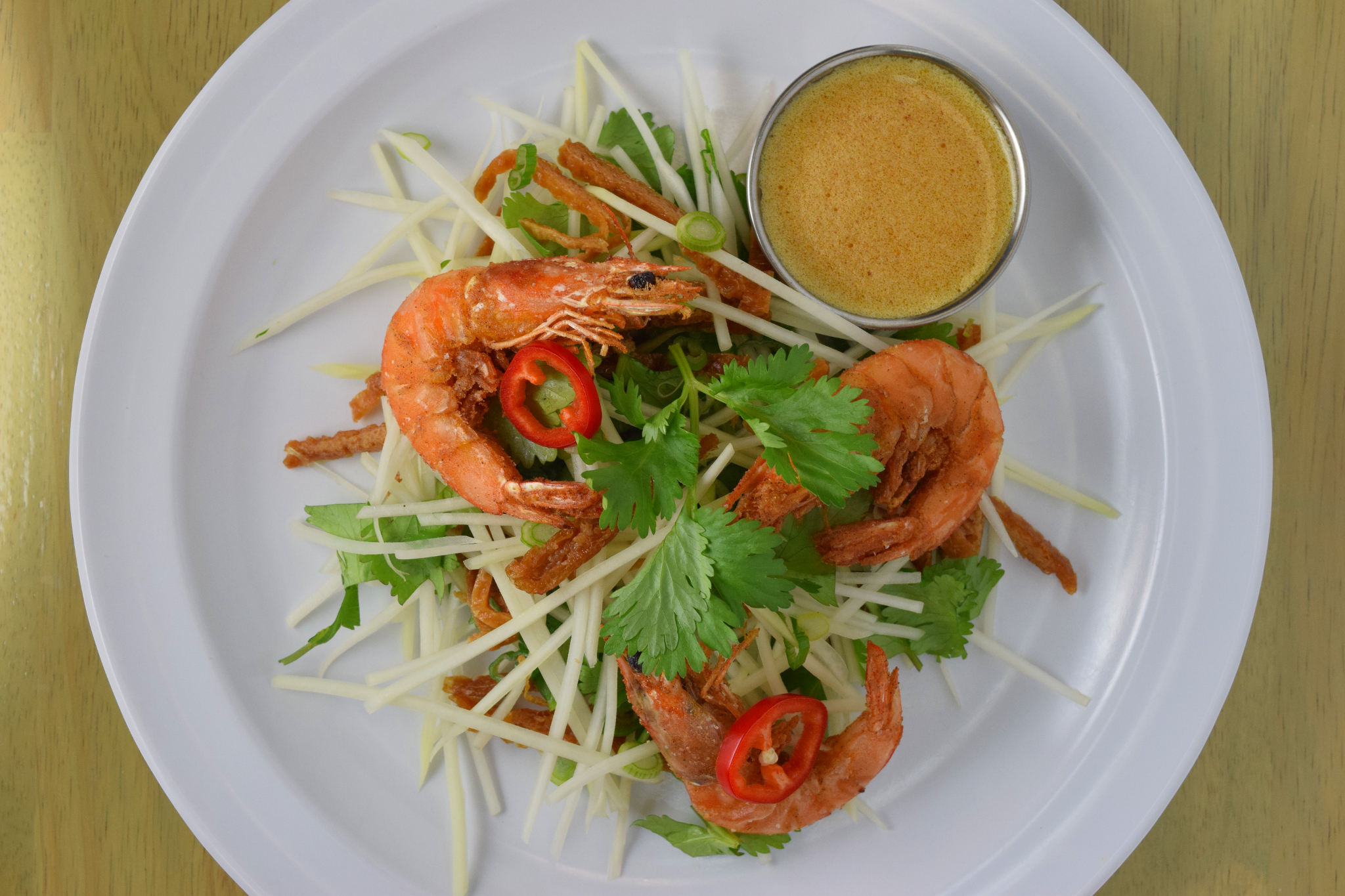 On the Menu: Green Papaya Slaw with Crispy Shrimp